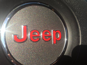 Premium Vinyl Inlay Decal for 2014-18 Jeep Grand Cherokee Steering Wheel Emblem - TVD Vinyl Decals