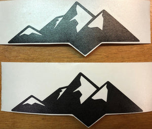 Premium Cast Matte Black Vinyl Mountain Decals for 2007-2020 Tundra - TVD Vinyl Decals