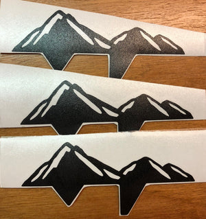 Premium Cast Matte Black Vinyl Mountain Decals for 2005-2015 Tacoma - TVD Vinyl Decals