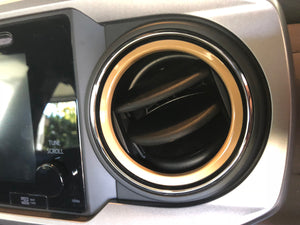 Premium Vinyl Decal Inner AC Vent Ring Kit for 2016+ Tacoma - TVD Vinyl Decals