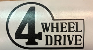 Vintage 4 Wheel Drive Premium Cast Vinyl Decal TVD Vinyl Decals