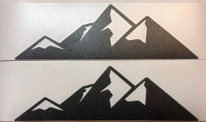 Premium Cast Matte Black Vinyl Mountain Decals for 2007+ Toyota Tundra iForce Emblem