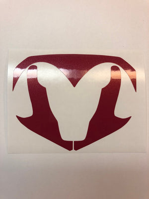 Premium Cast Vinyl Inlay Decals for 2013-2018 RAM 1500 Grille Emblem TVD Vinyl Decals