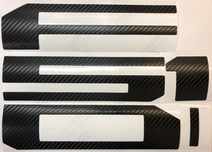 Carbon Fiber Look Vinyl Decals for 2018-2020 F-150 Tailgate TVD Vinyl Decals