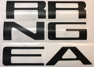 Carbon Fiber Look Vinyl Decals for 2019-2020 Ranger Tailgate - TVD Vinyl Decals