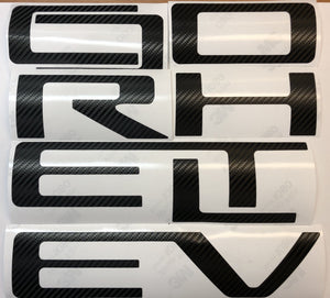 Carbon Fiber Look Vinyl Decals for 2019-2020 Silverado Tailgate - TVD Vinyl Decals