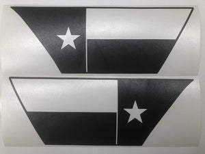 Premium Cast Matte Black Vinyl Flag Decals for Wrangler JL and Gladiator Fender Vents - TVD Vinyl Decals