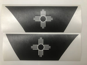 Premium Cast Matte Black Vinyl Flag Decals for Wrangler JL and Gladiator Fender Vents TVD Vinyl Decals US