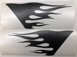 Premium Cast Matte Black Vinyl Flame Decals for Wrangler JL and Gladiator Fender Vents TVD Vinyl Decals