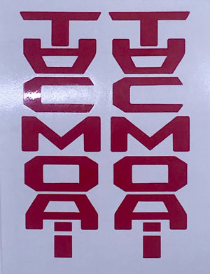 Premium Cast Vinyl Decals for 2016-2020 Tacoma Glovebox - TVD Vinyl Decals