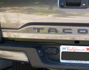 Premium Cast Vinyl Insert Decals for 2016+ Tacoma Tailgate - TVD Vinyl Decals