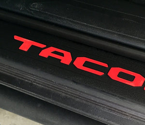 Premium Vinyl Decal Inserts for 2016+ Tacoma Door Sill Protectors - TVD Vinyl Decals