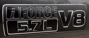Premium Cast Vinyl iForce Emblem Overlay Decals for 2014-2019 Tundra/Sequoia