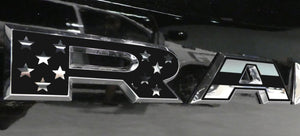 Premium Cast Matte Black Vinyl Flag Decals for 2019-2021 RAM Doors TVD Vinyl Decals