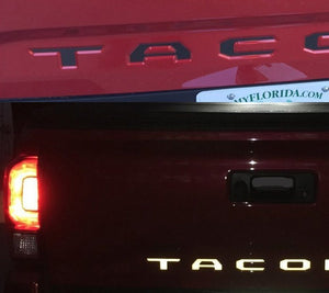 Black Reflective Vinyl Insert Decals for 2016+ Toyota Tacoma Tailgate - TVD Vinyl Decals