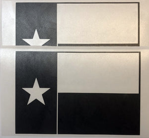 State Flag Decals - Premium Cast Matte Black Vinyl x2 - TVD Vinyl Decals