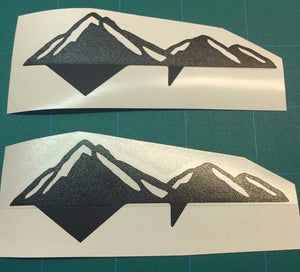 Premium Cast Matte Black Vinyl Mountain Decals for 2016-2019 Toyota Tacoma