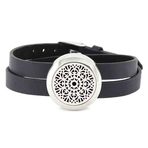 Twisted-Off Wrap Leather Band | Aromatherapy Essential Oil Diffuser