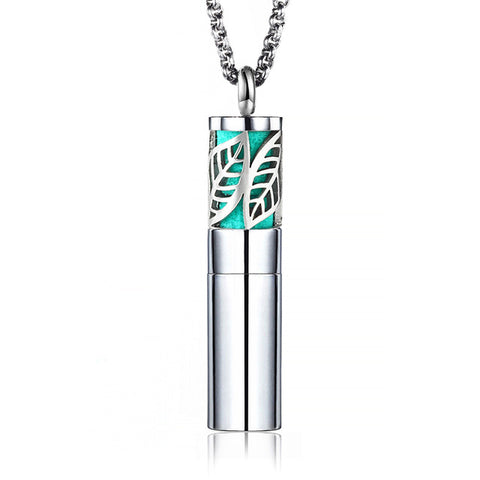 Silver Stainless Steel Aromatherapy Diffuser Pendants