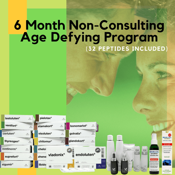 Highway to Health - 6 Month Non Consultation Age Defying Program (32 Peptides Included)