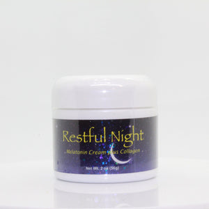 Restful Night with Melatonin Cream plus Collagen 2oz