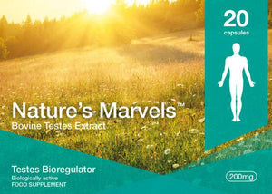 Nature's Marvels – Testes Bioregulator with Testoluten 20 Caps