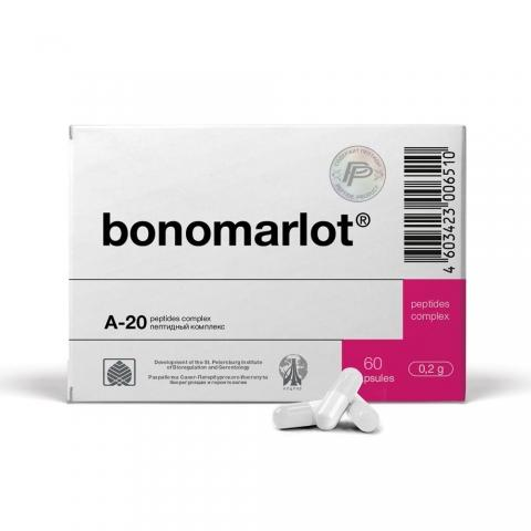 Bonomarlot - A-20 Original Khavinson Bone Marrow Peptide Bioregulator - 60 Capsules