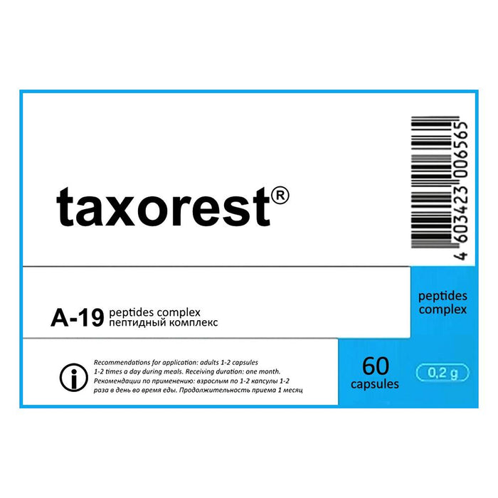 Taxorest - A-19 Lung Peptide Bioregulator  - 60 Capsules