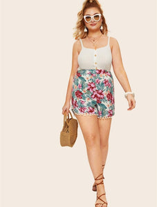 2019 Plus Size Printing Casual Pants Shorts