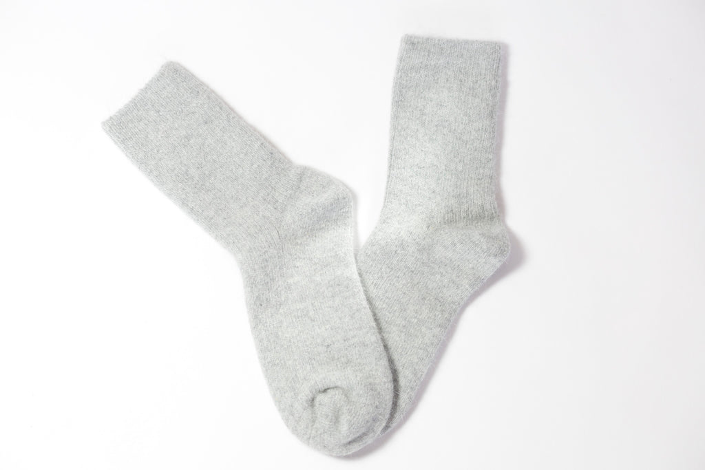 Cashmere Socks – Soft Grey (UNISEX)