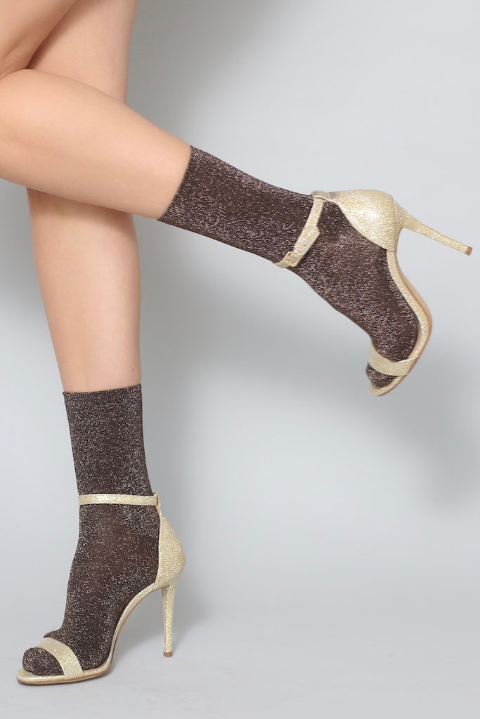 Glitterati Sock- Copper