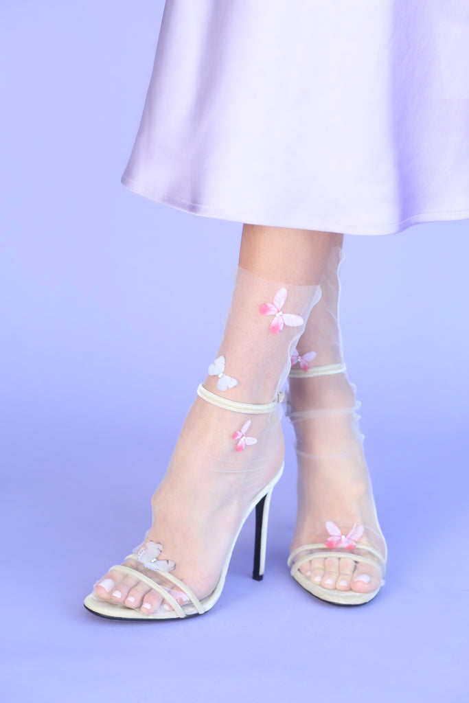 Butterfly Tulle Sock NEW