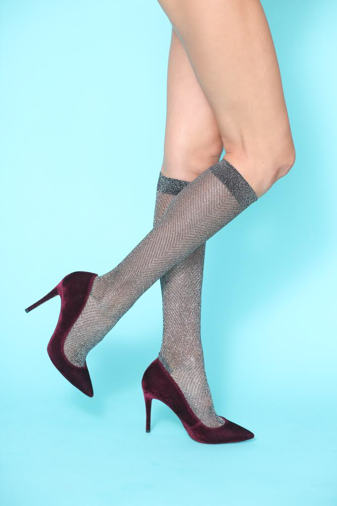 Gunmetal Knee-High Socks