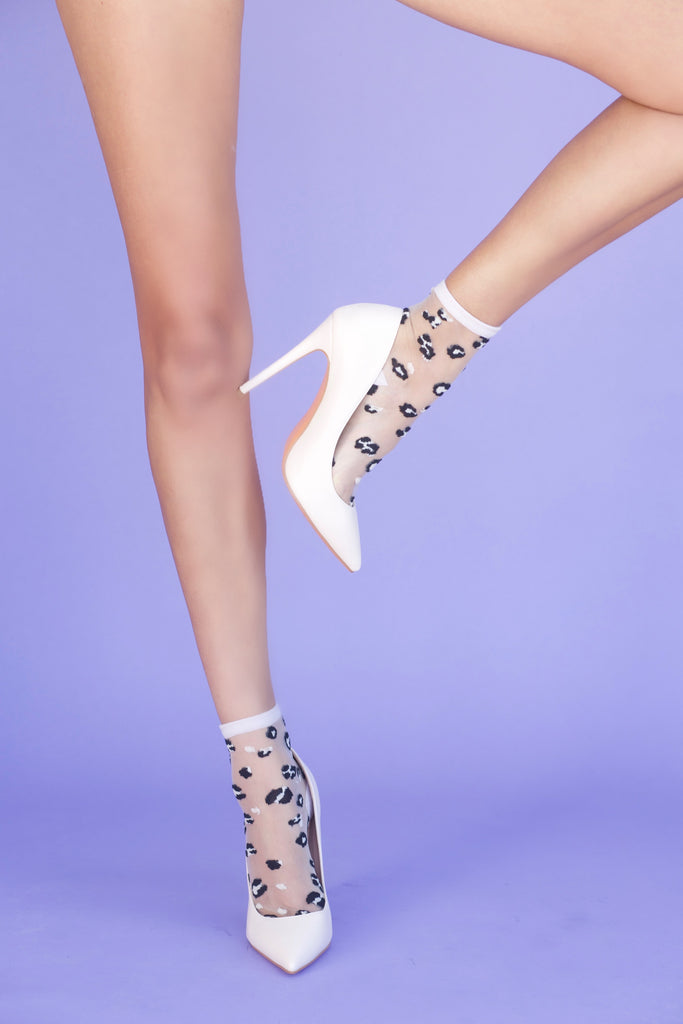 Leopard Print Sheer Sock
