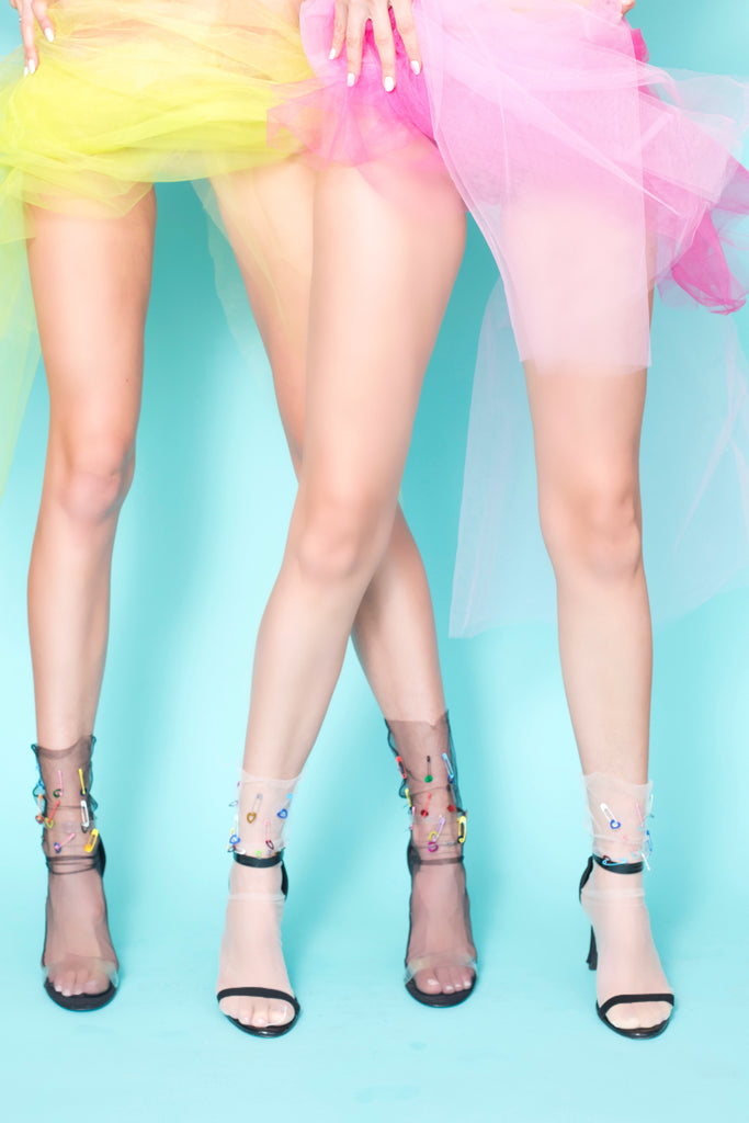 Neon Dream Pin Tulle Sock- Dark