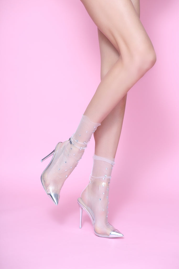 Wish Upon A Star Tulle Sock- Pale Pink [Five Colors]
