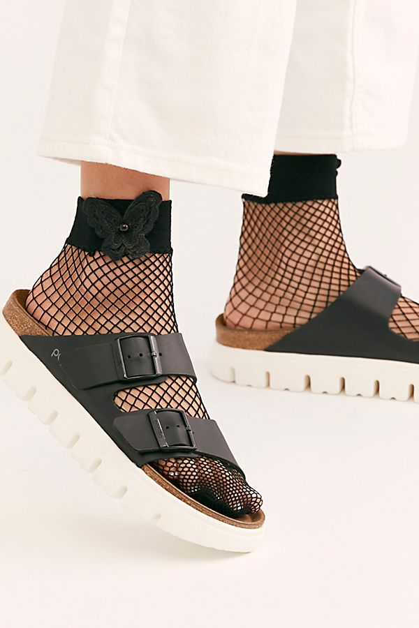Butterfly Net Socks - White