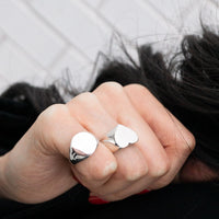 Ciorcalín - Small Circle Silver Signet Ring