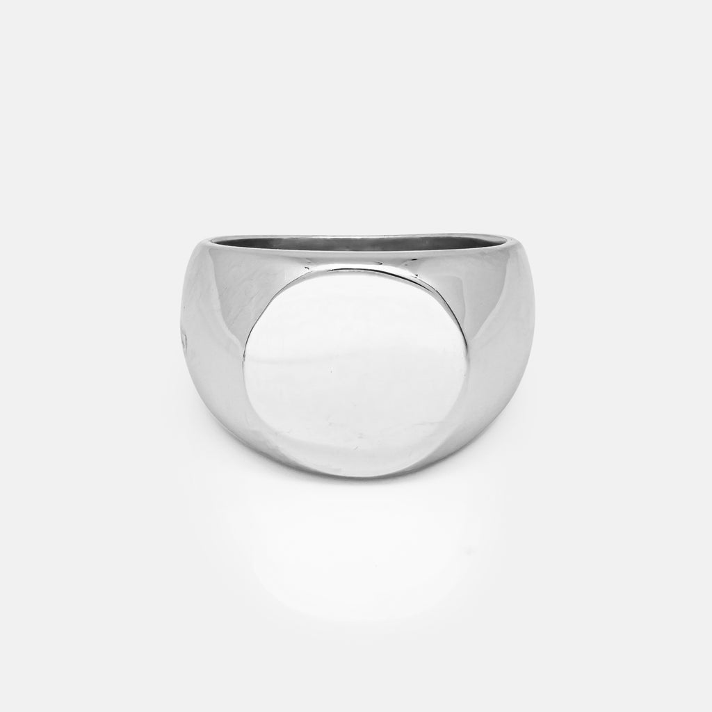 Circle Silver Signet Ring | Front | Handcrafted in Ireland