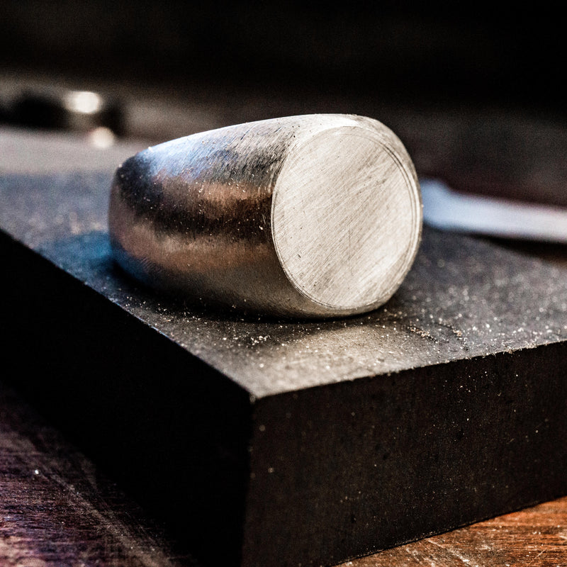 Circle Silver Signet Ring | Process | Handcrafted in Ireland