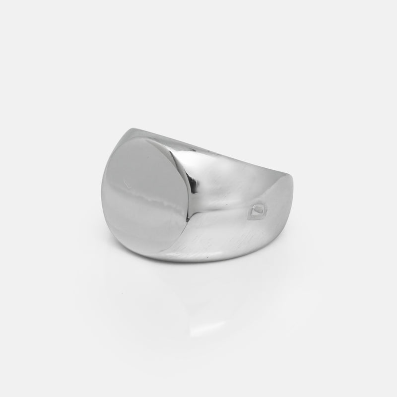 Circle Silver Signet Ring | Side | Handcrafted in Ireland