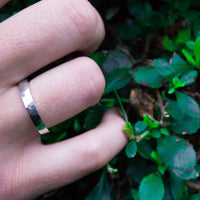Eco-friendly Hammered Silver Band I Mens