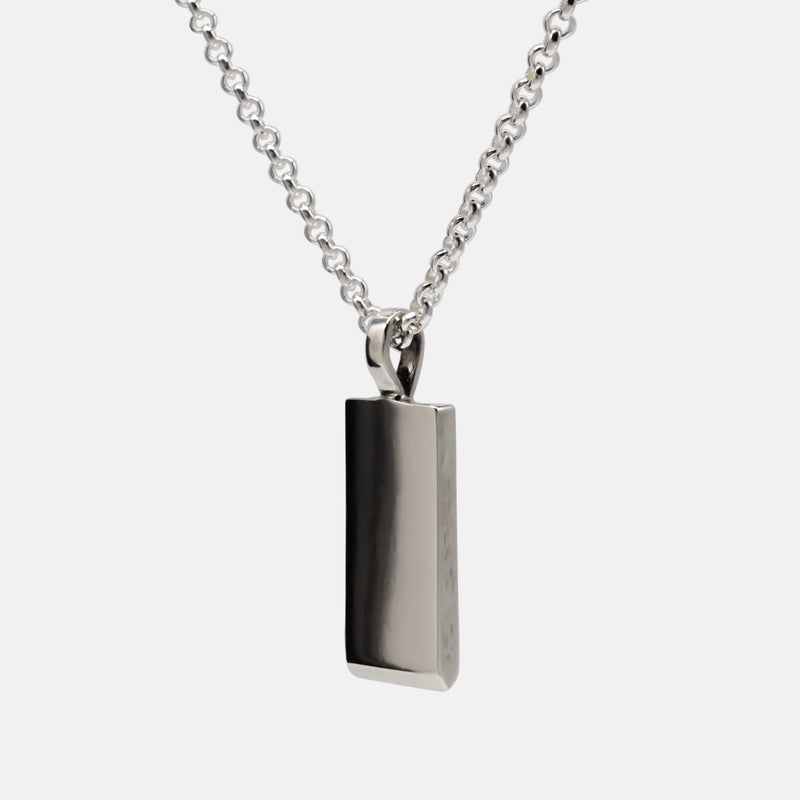 Guillotine - Rectangle Silver Pendant