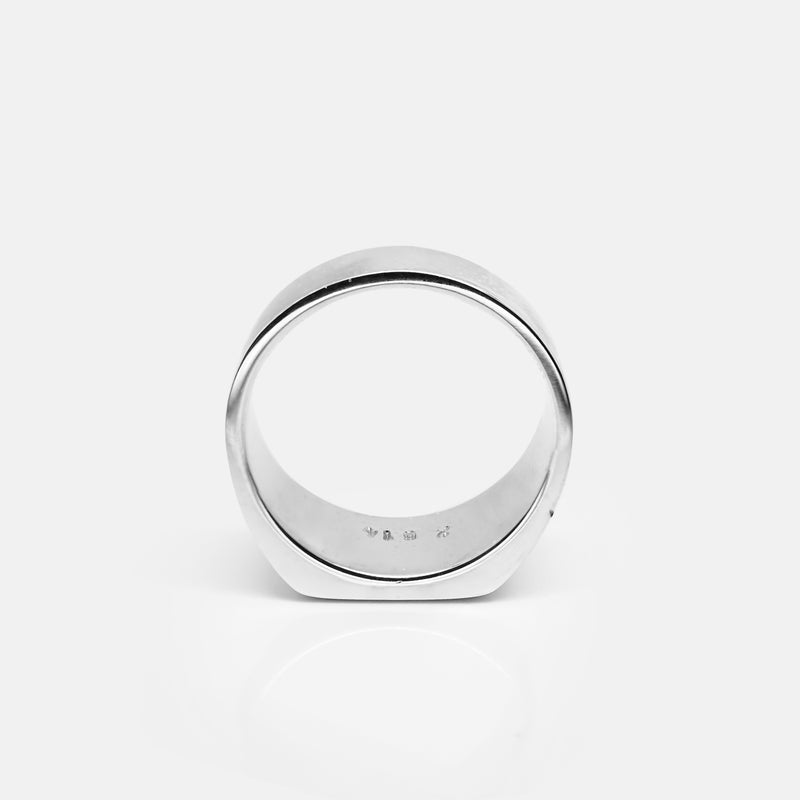 Square Silver Signet Ring | Back | Handcrafted in Ireland