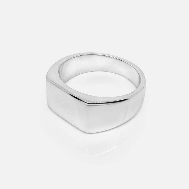 Square Silver Signet Ring | Side | Handcrafted in Ireland
