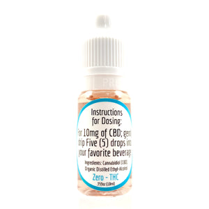 600MG CBD Drink Drops - Zero THC - Pristine CBD USA - 100% THC FREE - PURE, NATURAL, LEGAL CANNABINOID Products