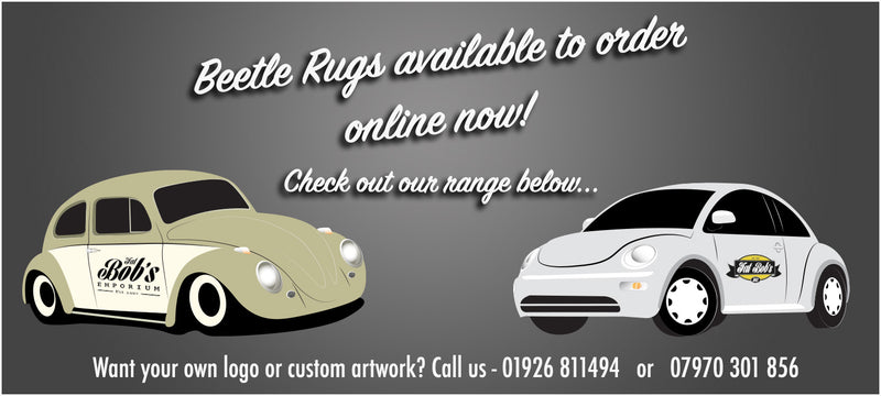 Classic and new beetle rugs sets available to order below