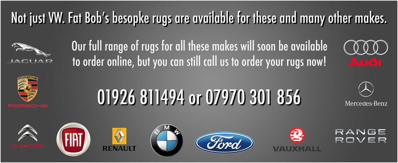 To order rugs for other makes call 01926 811494 or 07970301856