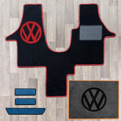 T5 cab mat set including cab mat, side steps, and living area rug