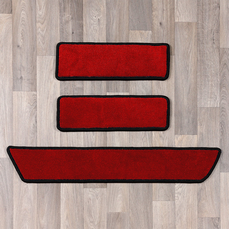 T6 side step rugs in red and black colours